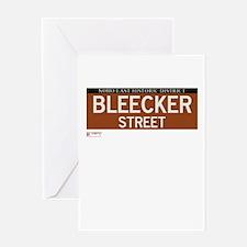 Bleecker Street in NY Greeting Card