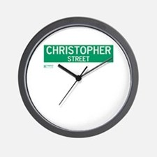 Christopher Street in NY Wall Clock