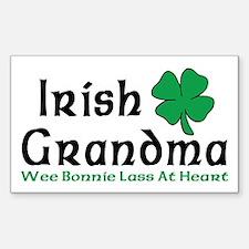 Irish Grandma Rectangle Decal