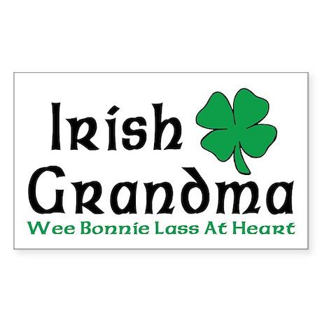 Irish Grandma Rectangle Sticker