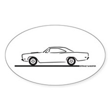 68 and 69 Roadrunner Oval Decal