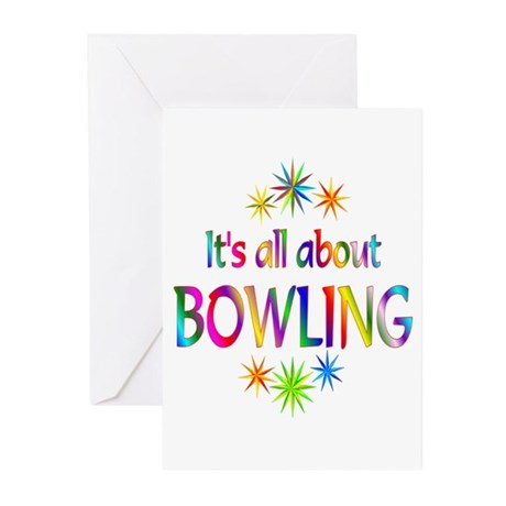 Bowling Greeting Cards (Pk of 10)