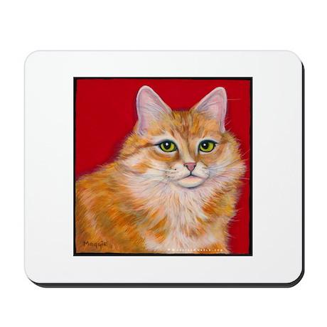 "Orange Cat ""Pumpkin"" Mousepad"