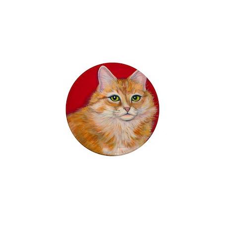 """Orange Cat """"Pumpkin"""" Mini Button (100 pack)"""