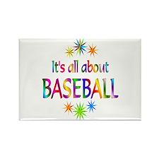 Baseball Rectangle Magnet (100 pack)