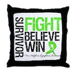 NonHodgkinsFightWin Throw Pillow