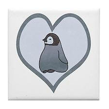 Baby Emperor Penguin Tile Coaster
