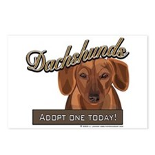 """""""Adopt a Dachshund' Dog Postcards (Package of 8)"""