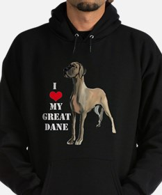 Great Dane heart Hoodie