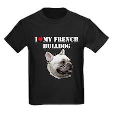 French Bulldog heart T