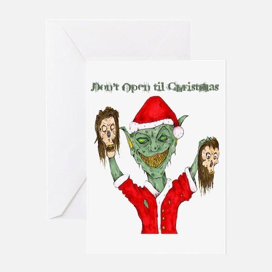 Don't Open Til Christmas Greeting Card