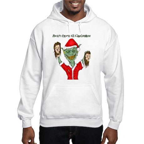 Don't Open Til Christmas Hooded Sweatshirt