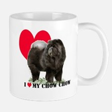 Black Chow Heart Mug