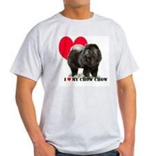 Black Chow Heart T-Shirt
