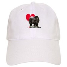 Black Chow Heart Baseball Cap