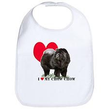Black Chow Heart Bib