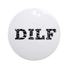 DILF Clothing Ornament (Round)