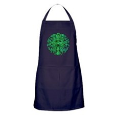 Green Man Gaze Apron (dark)