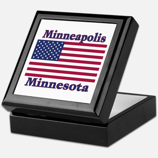 Minneapolis Flag Keepsake Box