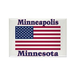 Minneapolis Flag Rectangle Magnet (100 pack)