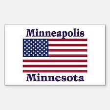 Minneapolis Flag Rectangle Decal