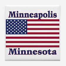 Minneapolis Flag Tile Coaster