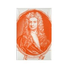 Sir Isaac Newton Portrait Rectangle Magnet