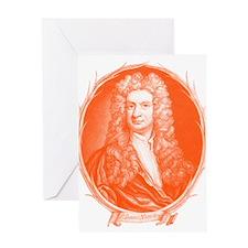 Sir Isaac Newton Portrait Greeting Card