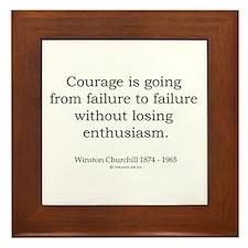 Winston Churchill 2 Framed Tile
