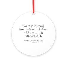 Winston Churchill 2 Ornament (Round)