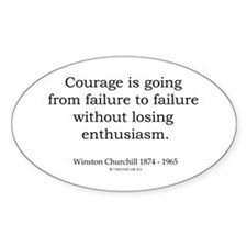 Winston Churchill 2 Oval Decal