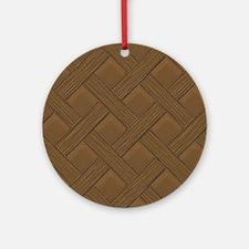 Brown Trellis Ornament (Round)