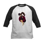 Rock Girl Kids Baseball Jersey