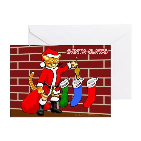 Santa Claws Greeting Cards (Pk of 10)