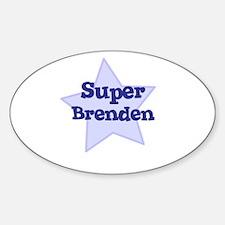 Super Brenden Oval Decal