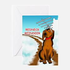 Redneck Reindeer Greeting Card