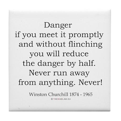 Winston Churchill 4 Tile Coaster