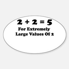 It All Adds Up! Oval Decal