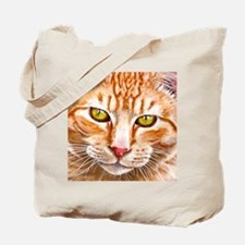 Orange Tabby Painting Tote Bag