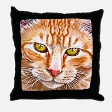 Orange Tabby Painting Throw Pillow