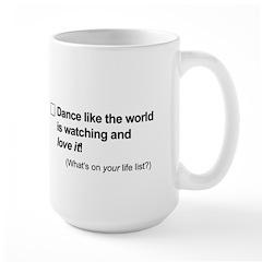 Goal: Dance like ... Large Mug