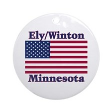 Ely Flag Ornament (Round)