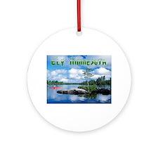 Ely Wilderness Scene Ornament (Round)