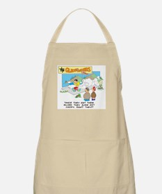 ONCE THEY GET THEIR SILVER .. Apron