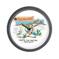 WHAT'S THE MATTER ... WIND QU Wall Clock