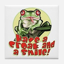 Croak and Smile Frog Tile Coaster