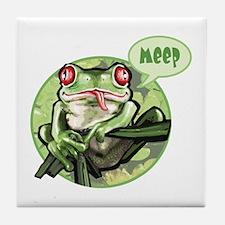 Frog goes meep Tile Coaster