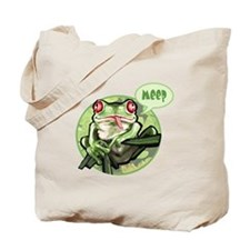 Frog goes meep Tote Bag