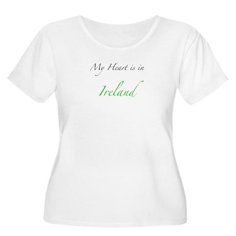 My Heart is in Ireland Women's Plus Size Scoop Nec