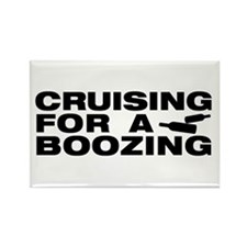 Cute Booze cruise Rectangle Magnet
